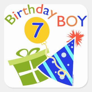 7th Birthday - Birthday Boy Square Sticker