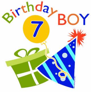 7th Birthday - Birthday Boy Standing Photo Sculpture