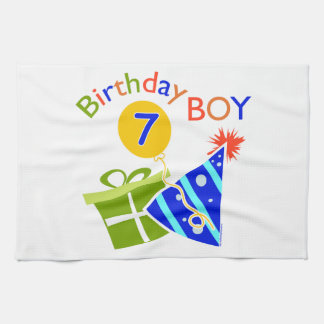 7th Birthday - Birthday Boy Hand Towel