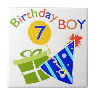 7th Birthday - Birthday Boy Ceramic Tiles