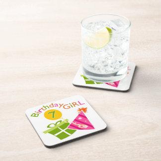 7th Birthday - Birthday Girl Drink Coasters