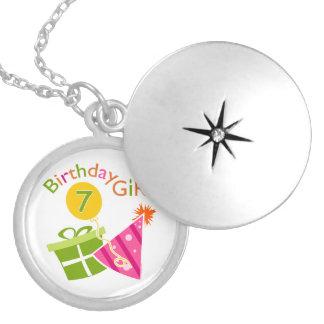 7th Birthday - Birthday Girl Round Locket Necklace
