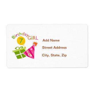 7th Birthday - Birthday Girl Shipping Label