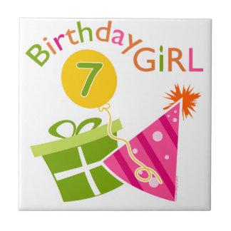 7th Birthday - Birthday Girl Tile