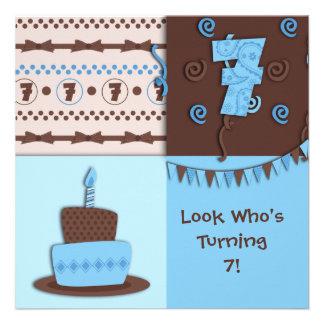 7th Birthday Boy Invitation
