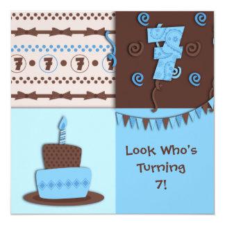 7th Birthday : Boy : Invitation