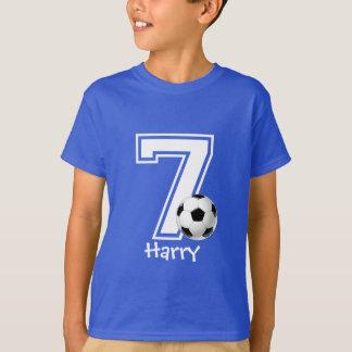 7th Birthday boy soccer personalized-2 T-Shirt
