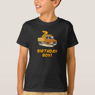 7th Birthday Dump Truck T Shirt - Boy Shirts