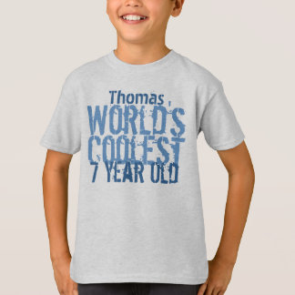 7th Birthday Gift World's Coolest 7 Year Old V11 T-Shirt