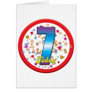 7th Birthday Today v2 Cards