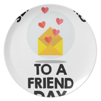 7th February - Send a Card to a Friend Day Plate