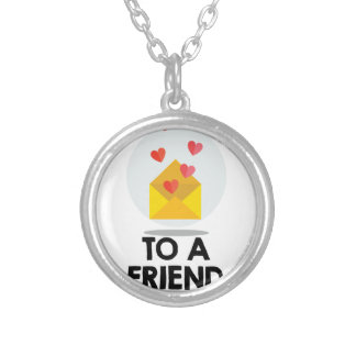 7th February - Send a Card to a Friend Day Silver Plated Necklace