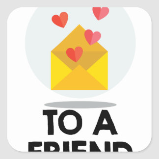 7th February - Send a Card to a Friend Day Square Sticker