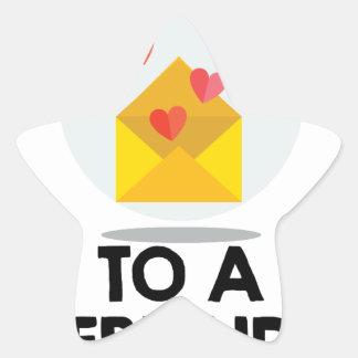 7th February - Send a Card to a Friend Day Star Sticker