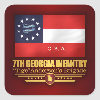 7th Georgia Infantry (2) Square Sticker