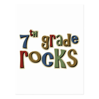 7th Grade Rocks Seventh Postcard