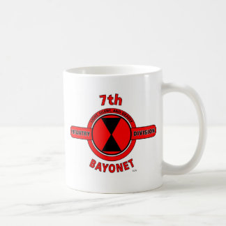 """7TH INFANTRY DIVISION """"BAYONET DIVISION"""" COFFEE MUGS"""