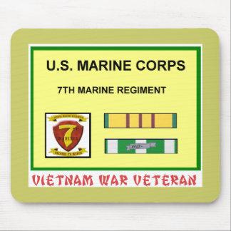 7TH MARINE REGIMENT VIETNAM WAR VET MOUSE PAD