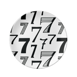 7th or 70th Birthday or Anniversary Seven Pattern Plate