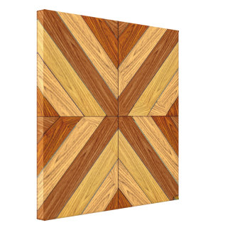 7th Pattern; New Parquet Floor Canvas Print