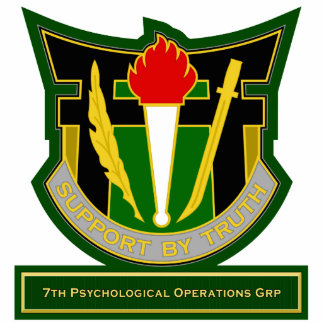 7th Psychological Operations Grp DUI Standing Photo Sculpture