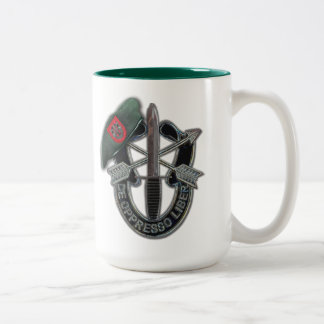 7th Special forces green berets veterans vets Two-Tone Coffee Mug