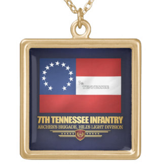 7th Tennessee Infantry Gold Plated Necklace