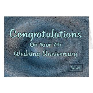 7th Wedding Anniversary Card