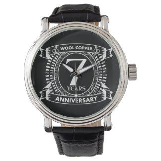 7TH wedding anniversary wool copper Watch