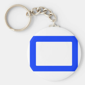 7X5 Card with Round Inside Conors Transp Blue Key Chain