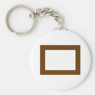 7X5 Card with Round Inside Conors Transp Brown Keychain