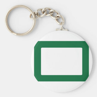 7X5 Card with Round Inside Conors Transp Green Dk Key Chain
