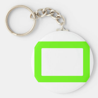 7X5 Card with Round Inside Conors Transp GreenLt Key Chain