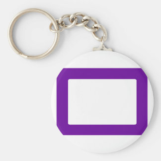 7X5 Card with Round Inside Conors Transp PurpleDk Keychains