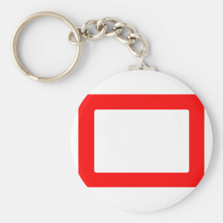 7X5 Card with Round Inside Conors Transp Red Keychain