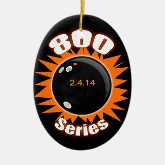 800 Series in Black and Orange Ceramic Ornament