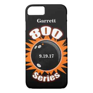 800 Series in Black and Orange with name iPhone 8/7 Case