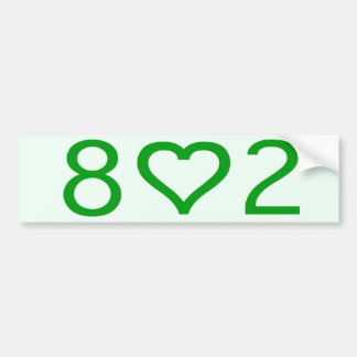 802 Bumper Sticker