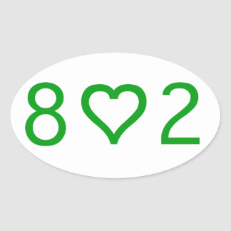 802  Oval Stickers