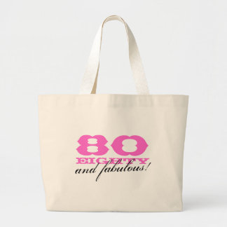 80 and fabulous tote bag for 80th Birthday