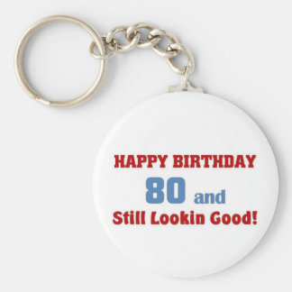 80 and still lookin good basic round button key ring