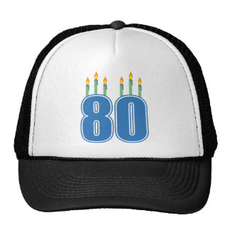 80 Birthday Candles (Blue / Green) Cap
