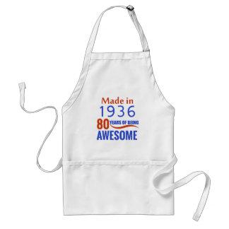 80 birthday design standard apron
