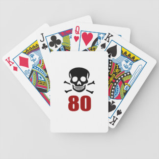 80 Birthday Designs Bicycle Playing Cards