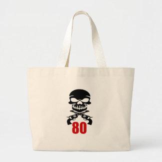 80 Birthday Designs Large Tote Bag