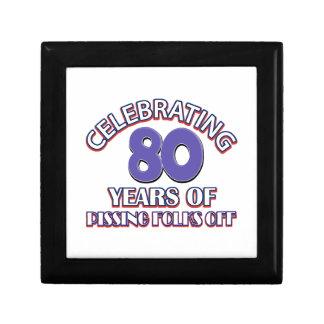 80 birthday Designs Small Square Gift Box
