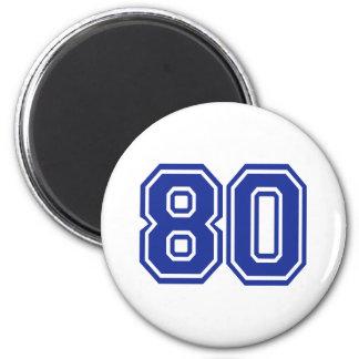 80 - eighty refrigerator magnets
