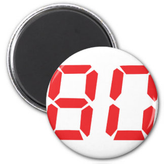 80 eighty red alarm clock digital number refrigerator magnet