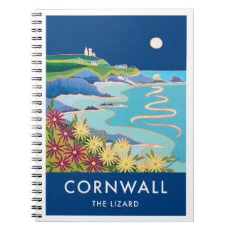 80 page notebook vintage style Lizard lighthouse