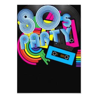 80 Retro Party 11 Cm X 16 Cm Invitation Card